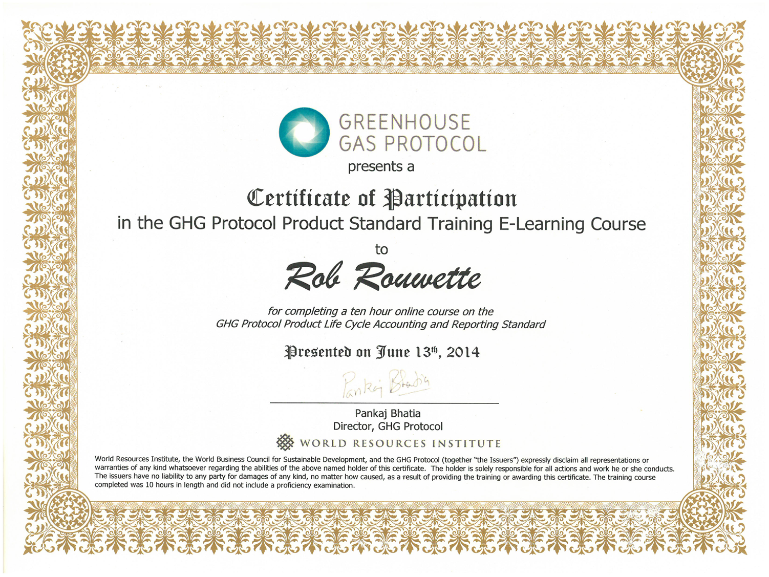 GHG Protocol training