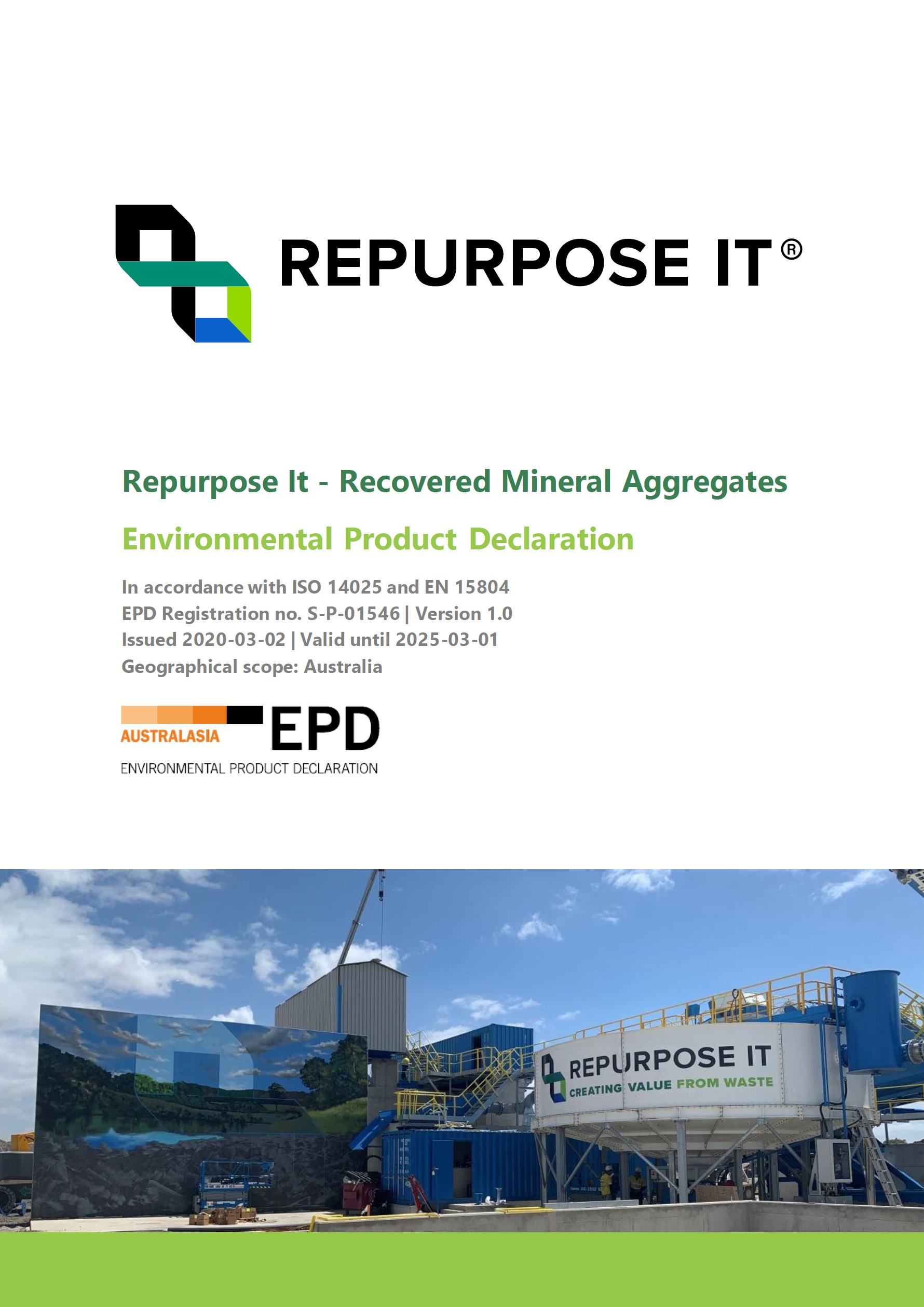 Repurpose It - Recovered Mineral Aggregates